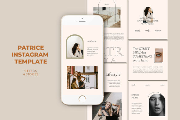 Patrice Instagram Templates Graphic Web Elements By qohhaarqhaz