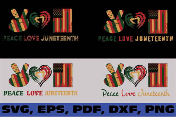 Peace Love Juneteenth Graphic Illustrations By dodo2000mn1993