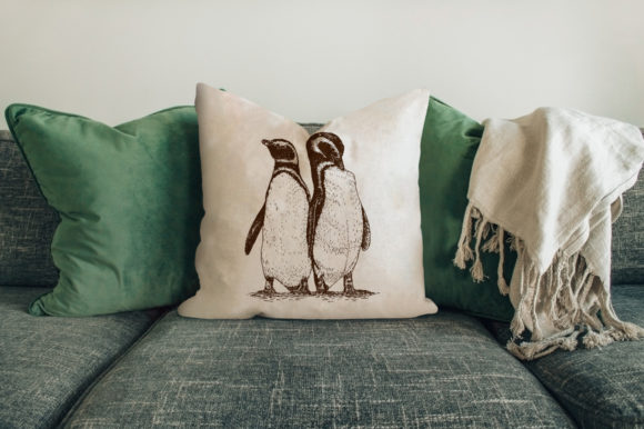 Download Free Penguin Drawing Illustrations Graphic By Rimbu Creative for Cricut Explore, Silhouette and other cutting machines.