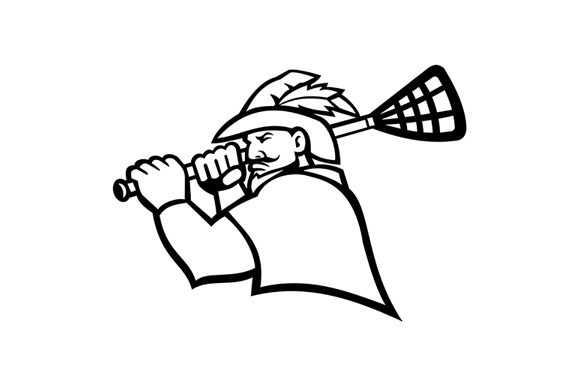 Robin Hood or Green Archer with Lacrosse Graphic