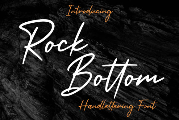 Print on Demand: Rock Bottom Script & Handwritten Font By AbasCreative
