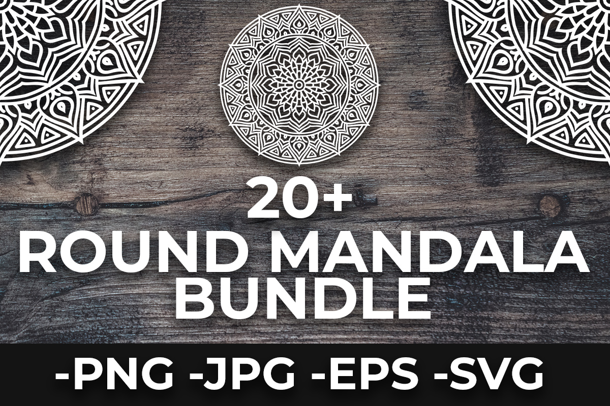Download Free Round Ornament Mandalas Bundle Bundle Creative Fabrica for Cricut Explore, Silhouette and other cutting machines.