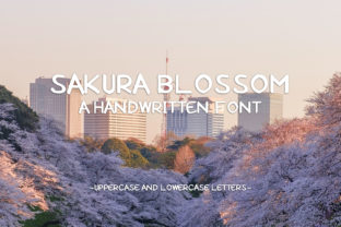 Print on Demand: Sakura Blossom Display Font By Faristaputra
