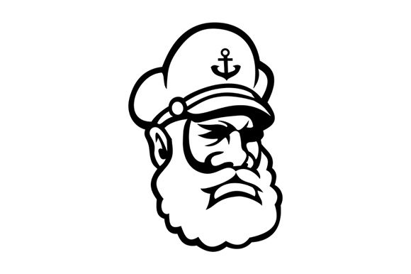 Download Free Sea Captain Old Sea Dog Or Skipper Graphic By Patrimonio for Cricut Explore, Silhouette and other cutting machines.