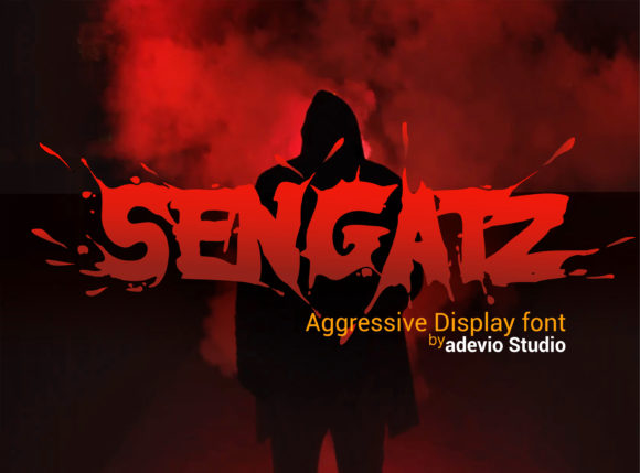 Print on Demand: Sengatz Display Font By adevio27