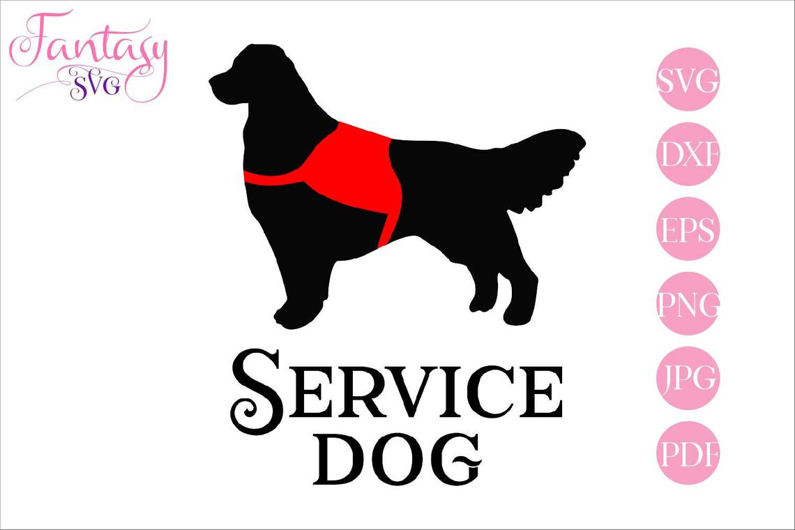Download Free Service Dog Cut Files Graphic By Fantasy Svg Creative Fabrica for Cricut Explore, Silhouette and other cutting machines.