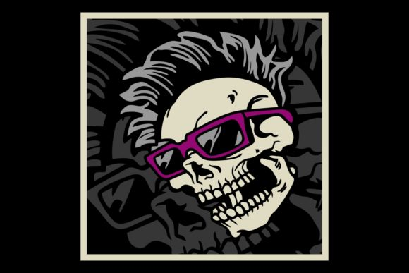 Skull Wearing Eye Glasses Hand Drawing Graphic By Epic Graphic