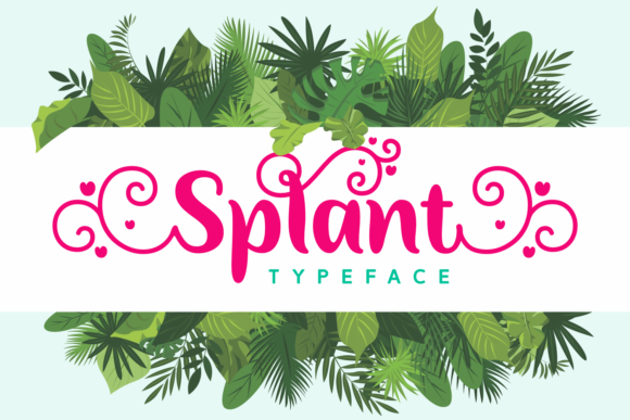 Print on Demand: Splant Script & Handwritten Font By Situjuh - Image 1