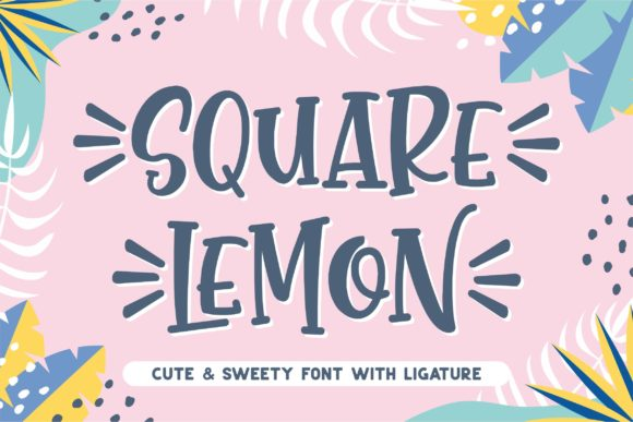 Print on Demand: Square Lemon Script & Handwritten Font By awansenja.type