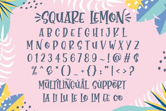 Print on Demand: Square Lemon Script & Handwritten Font By awansenja.type - Image 8