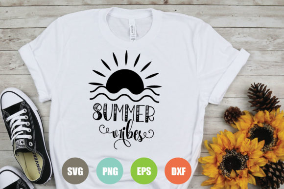Download Free Summer Vibes Graphic By Logotrain034 Creative Fabrica for Cricut Explore, Silhouette and other cutting machines.