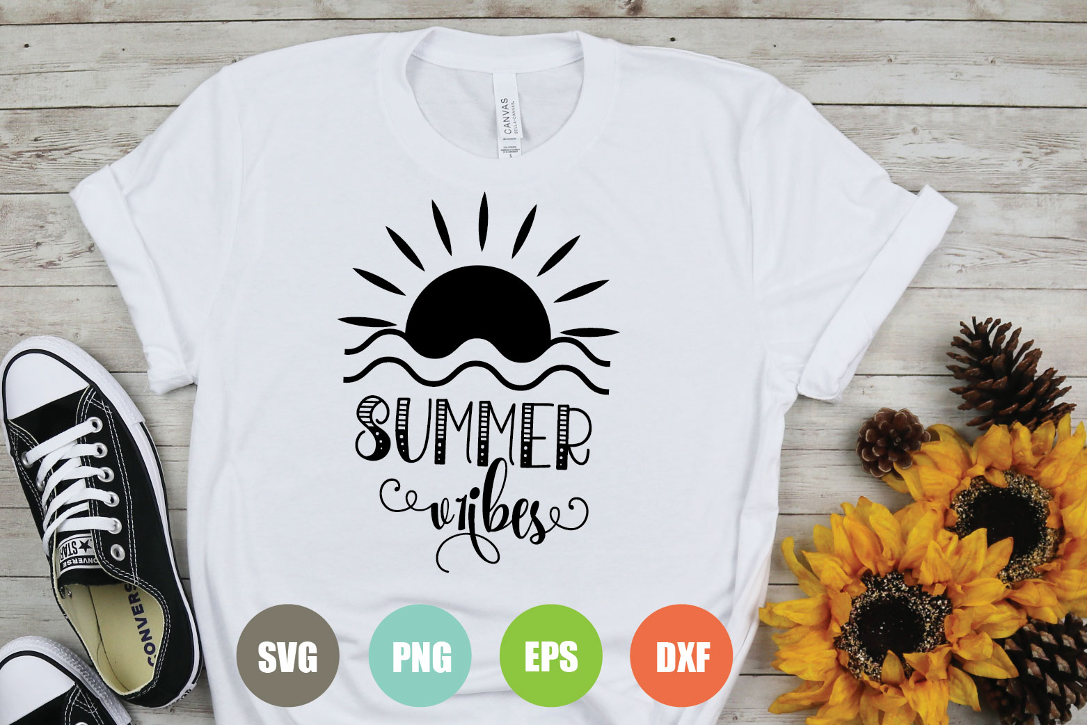 Download Free Summer Vibes Graphic By Logotrain034 Creative Fabrica SVG Cut Files