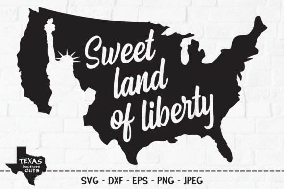 Download Free Sweet Land Of Liberty Patriotic Design Graphic By for Cricut Explore, Silhouette and other cutting machines.