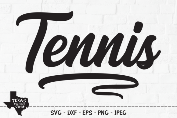 Download Free Tennis Sports Shirt Design Graphic By Texassoutherncuts for Cricut Explore, Silhouette and other cutting machines.
