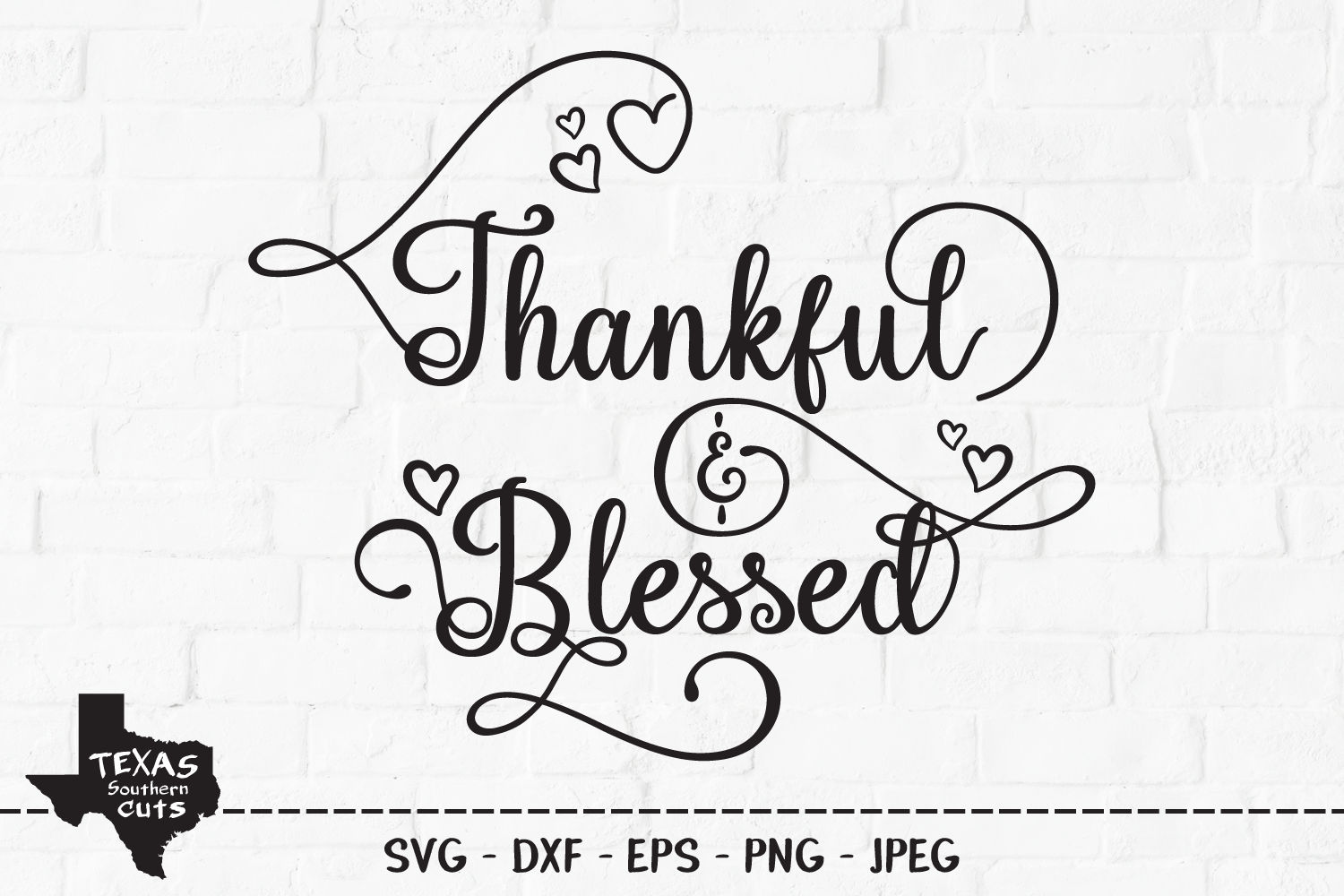 Download Free Thankful Blessed Christian Design Graphic By for Cricut Explore, Silhouette and other cutting machines.