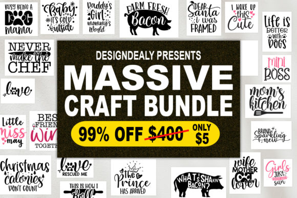 Print on Demand: The Massive Craft Bundle  von Designdealy.com