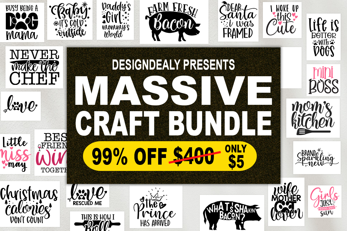 Download Free The Massive Craft Bundle Bundle Creative Fabrica for Cricut Explore, Silhouette and other cutting machines.
