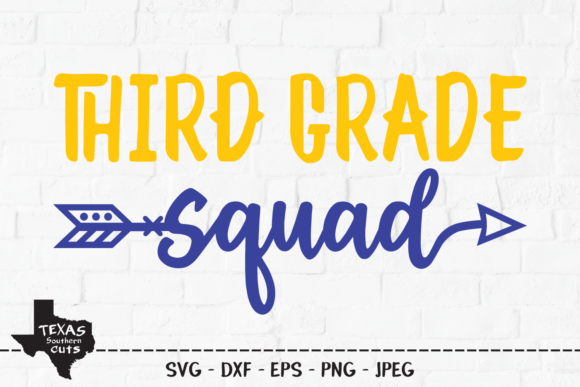 Download Free Third Grade School Shirt Design Graphic By Texassoutherncuts for Cricut Explore, Silhouette and other cutting machines.