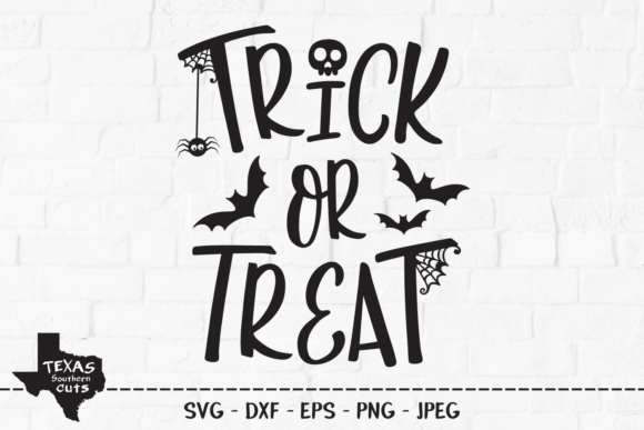 Trick Or Treat Halloween Shirt Design Graphic By