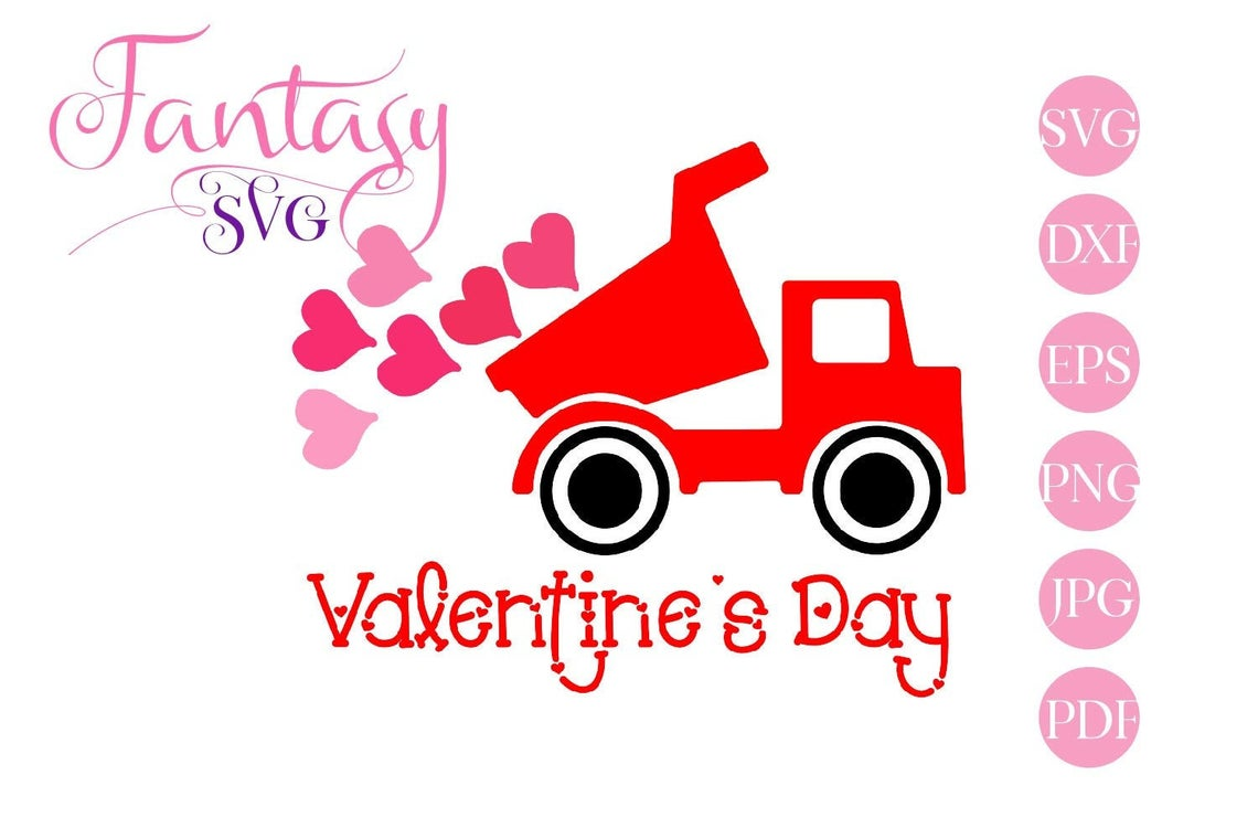 Download Free Valentine Truck Cut Files Graphic By Fantasy Svg Creative for Cricut Explore, Silhouette and other cutting machines.