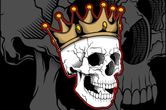 Vector Illustration Skull Wearing Crown Graphic Illustrations By Epic.Graphic
