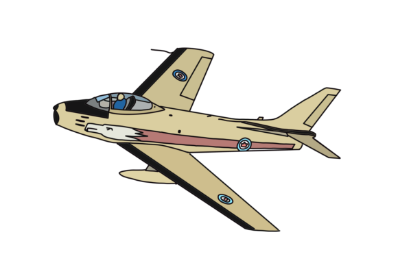 Download Free Vintage 1950s Jet Fighter Aircraft Graphic By Majestic Twelve Creative Fabrica for Cricut Explore, Silhouette and other cutting machines.