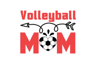 Download Free Volleyball Mom Craft Design Graphic By Svg Store Creative Fabrica for Cricut Explore, Silhouette and other cutting machines.