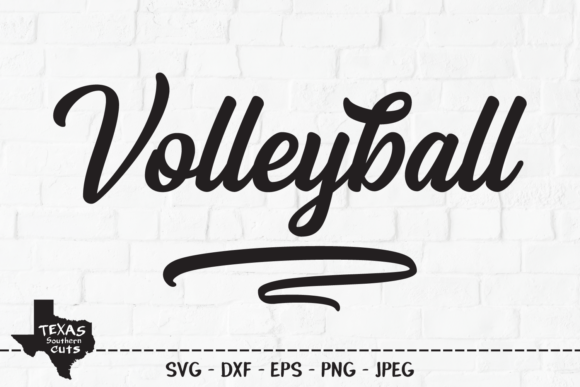 Download Free Volleyball Sports Shirt Design Graphic By Texassoutherncuts for Cricut Explore, Silhouette and other cutting machines.