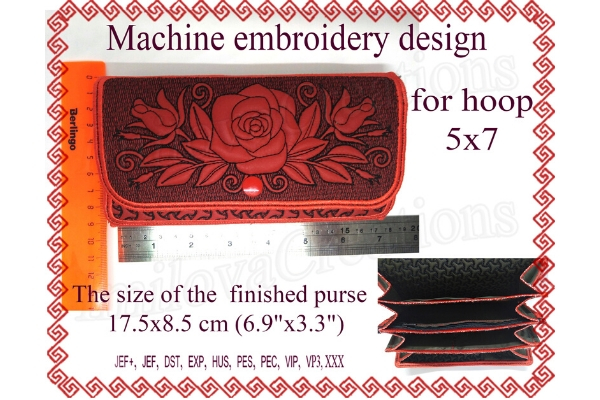 Download Free Rose Wallet Creative Fabrica for Cricut Explore, Silhouette and other cutting machines.
