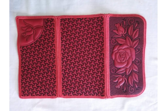 Rose Wallet Sewing & Crafts Embroidery Design By ImilovaCreations - Image 3