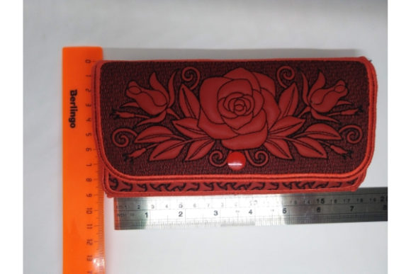 Rose Wallet Sewing & Crafts Embroidery Design By ImilovaCreations - Image 4