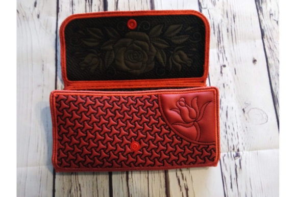 Rose Wallet Sewing & Crafts Embroidery Design By ImilovaCreations - Image 6