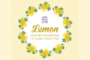 Print on Demand: Whimsical Lemon Wreath Clip Art Graphic Illustrations By Sgt.Ruthless