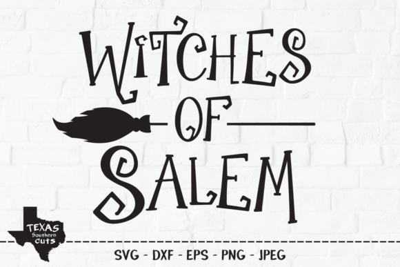 Download Free Witches Of Salem Halloween Design Graphic By Texassoutherncuts for Cricut Explore, Silhouette and other cutting machines.