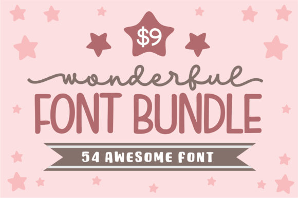 Print on Demand: Wonderful Font Bundle  By Subectype