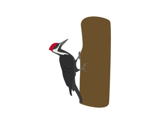 Download Free Woodpecker Bird Animal Graphic By Archshape Creative Fabrica for Cricut Explore, Silhouette and other cutting machines.