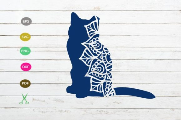 Download Free Cat 3d Mandala Cut File Graphic By Scmdesign Creative Fabrica for Cricut Explore, Silhouette and other cutting machines.