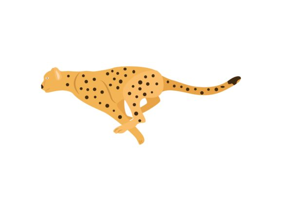 Download Free Chetah Runs Animal Graphic By Archshape Creative Fabrica for Cricut Explore, Silhouette and other cutting machines.