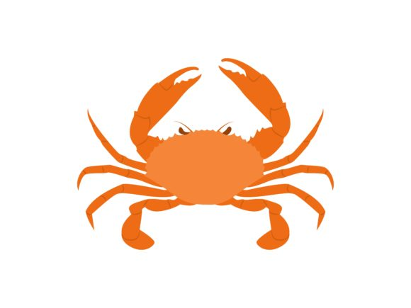Download Free Crab Animal Graphic By Archshape Creative Fabrica for Cricut Explore, Silhouette and other cutting machines.