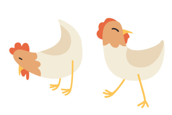 Download Free Cute Chicken Animal Vector Illustration Graphic By Sasongkoanis for Cricut Explore, Silhouette and other cutting machines.