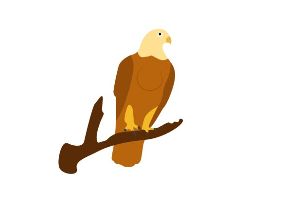 Download Free Eagle In A Tree Branch Animal Graphic By Archshape Creative for Cricut Explore, Silhouette and other cutting machines.