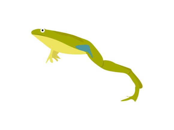 Download Free Frog Jump Animal Graphic By Archshape Creative Fabrica for Cricut Explore, Silhouette and other cutting machines.