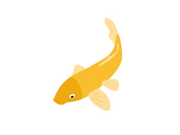Download Free Gold Koi Fish Animal Graphic By Archshape Creative Fabrica for Cricut Explore, Silhouette and other cutting machines.
