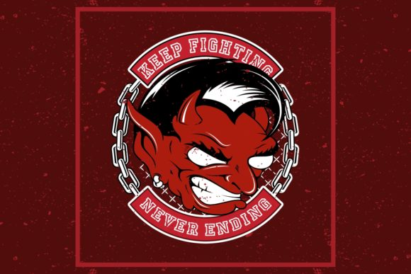 Download Free Grunge Style Angry Red Devil Graphic By Epic Graphic Creative for Cricut Explore, Silhouette and other cutting machines.