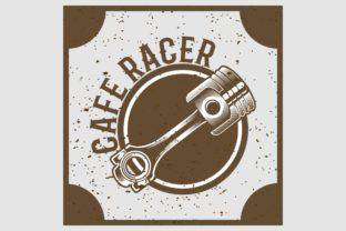 Download Free Grunge Style Piston Cafe Racer Hand Draw Graphic By Epic Graphic for Cricut Explore, Silhouette and other cutting machines.