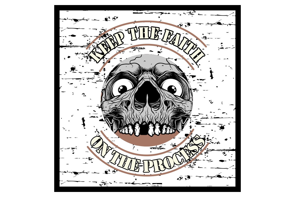 Download Free Grunge Style Vintage Skull And Text Keep Graphic By Epic Graphic for Cricut Explore, Silhouette and other cutting machines.