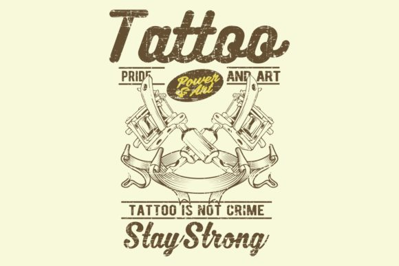 Download Free Grunge Style Vintage Tattoo Is Not Crime Graphic By Epic Graphic for Cricut Explore, Silhouette and other cutting machines.