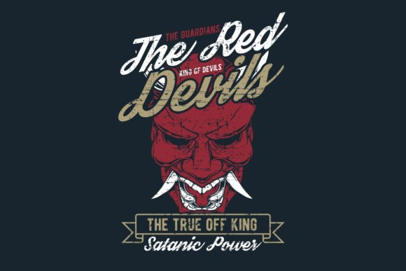 Download Free Grunge Style Vintage The Red Devil Hand Graphic By Epic Graphic for Cricut Explore, Silhouette and other cutting machines.