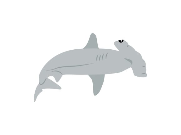 Download Free Hammerhead Sharks Fish Animal Graphic By Archshape Creative for Cricut Explore, Silhouette and other cutting machines.