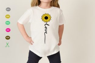 Download Free Love Cut File Sunflower Cut File Graphic By Scmdesign for Cricut Explore, Silhouette and other cutting machines.